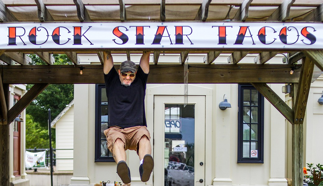 Co-owner Wil Pelly is living the rock star life at Rock Star Taco Shack. - CHELSEA NEULING