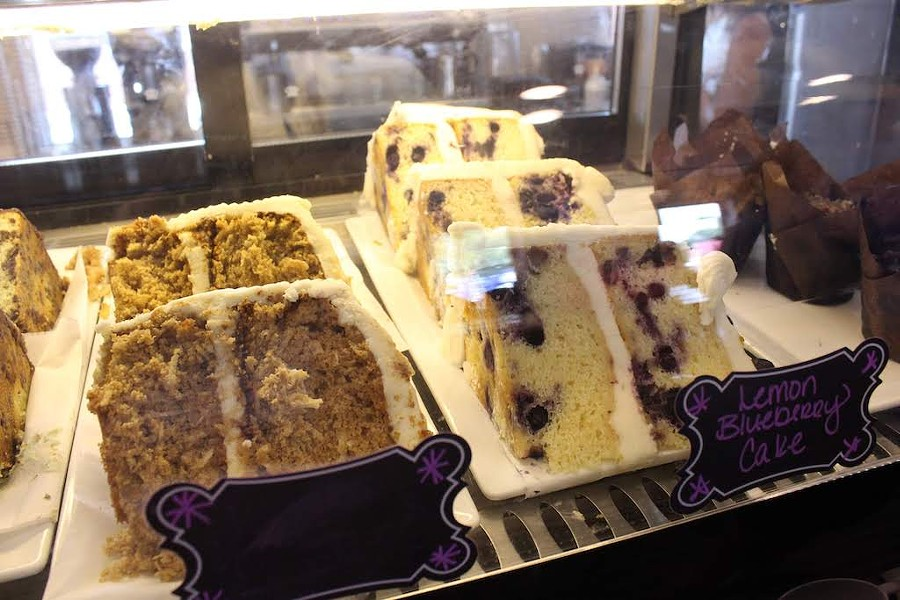 Cafe on the Abbey serves cakes, muffins, cinnamon rolls and much more. - KATIE COUNTS