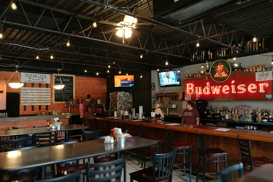 The bar has about ten Narrow Gauge beers on tap, in addition to a large selection of drafts from other local and national breweries. - IAIN SHAW