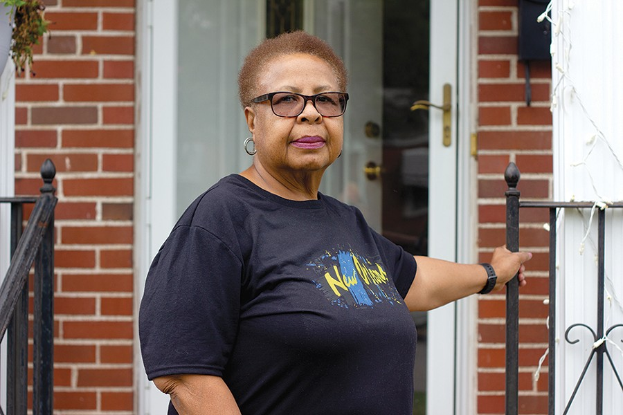 "Longtime University City resident Letha Baptiste says Novus isn't paying homeowners in the path of the project enough for her to leave her house. ""I'm not for it at all."" - DANNY WICENTOWSKI"