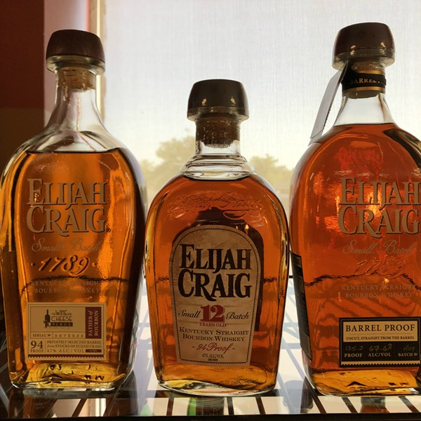 A selection of Elijah Craig spirits at (IN)Famous Bar. - PAUL HAYDEN