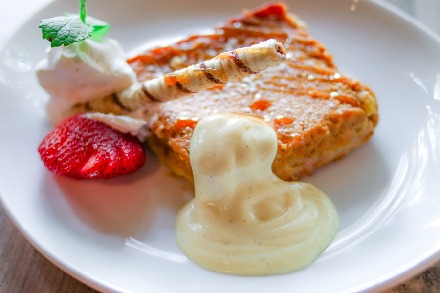 Gooey butter cake is one of several desserts on offer. - CHELSEA NEULING