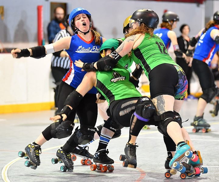 After the roller derby comes the wrestling. - BOB DUNNELL