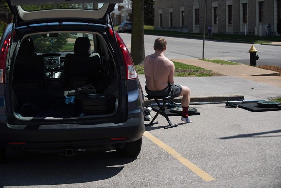 Dondzila's CRV holds everything he needs to train. - TRENTON ALMGREN-DAVIS