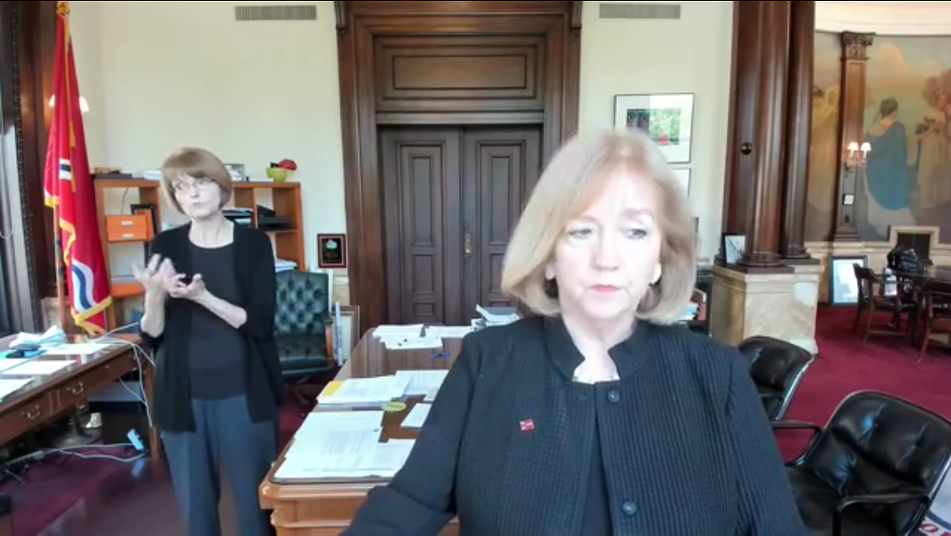 In the since deleted video, Krewson lists the full names and identifying information of at least ten activists, including the streets they live on. - SCREENSHOT FROM THE SINCE DELETED VIDEO