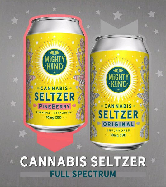 PineBerry Cannabis Seltzer is Mighty Kind's first solo effort in the  growing CBD drink market. - COURTESY OF MIGHTY KIND