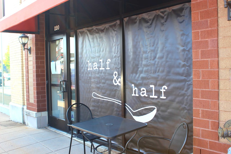 Half & Half is located at 220 West Lockwood Avenue in Webster Groves. - PHOTO BY LAUREN MILFORD