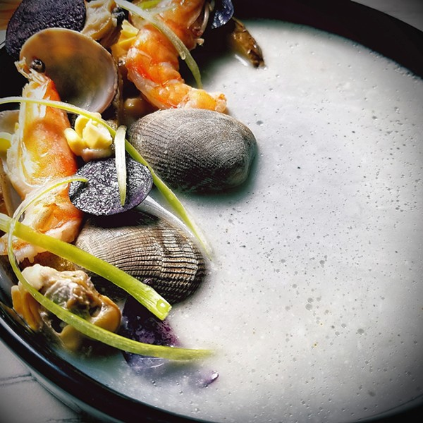 SEAFOOD COURSE AT PURVEYOR'S TABLE | TYLER DAVIS