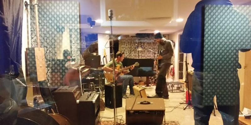 Musicians at work at Moon Jr.