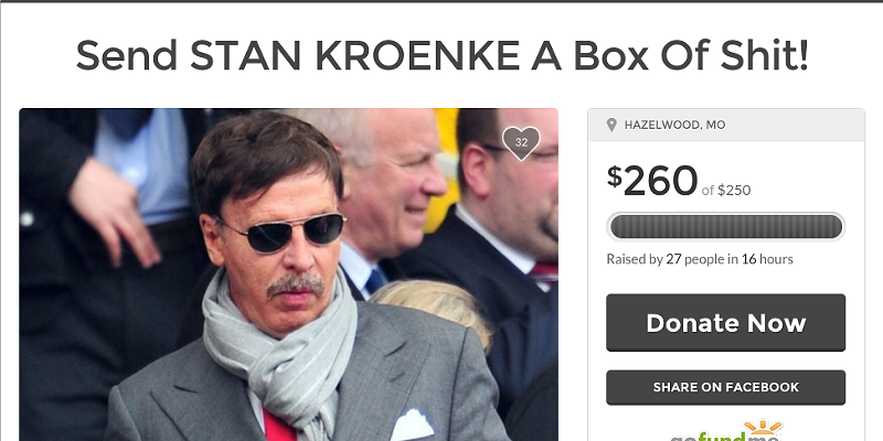 Two Dozen People Just Donated Money To Send Stan Kroenke A Box Of