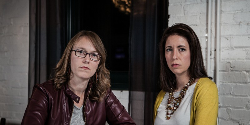 Rebecca (left) and Angela want other women to know what they know about dealing with an abuser.