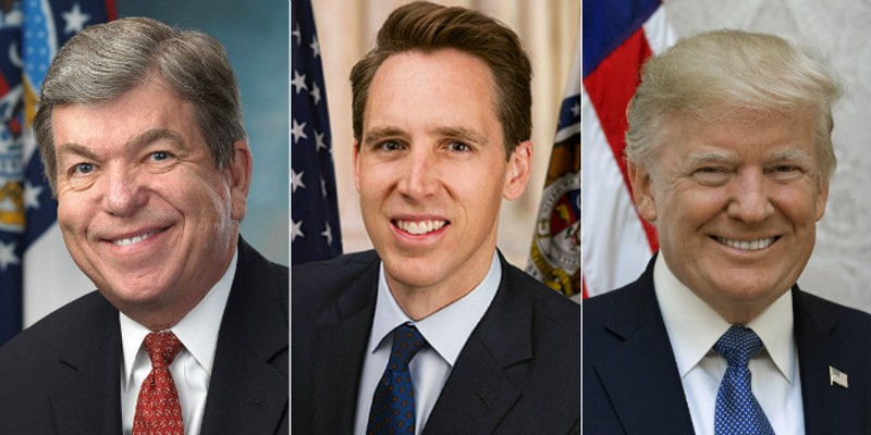 Missouri senators Roy Blunt and Josh Hawley are preparing for Donald Trump's exit in their own ways.