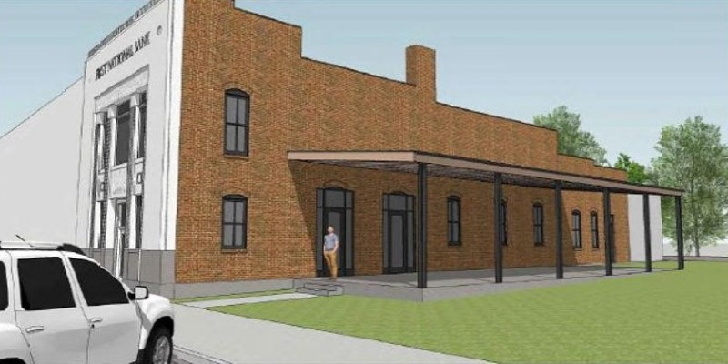 A rendering of the forthcoming Schlafly Beer brewpub that will open in Highland, Illinois, this fall.