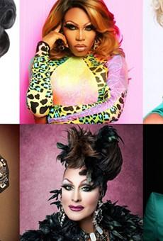 Hamburger Mary's performers include Alexis Principle, Asia T. O'Hara, Krista Versace, Nina DiAngelo, Sabrina White, Tiffany T. Hunter. Photo credits below.