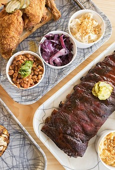 Grace Meat + Three's highlights include fried chicken, Duroc pork ribs and a thick-cut grilled bologna sandwich.