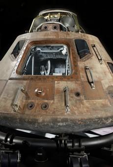 The outside of the Apollo command module