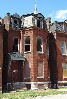 Vacant homes in the city's Hyde Park neighborhood.