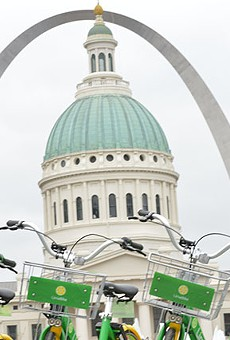 St. Louis' new bike-sharing program kicked off today.