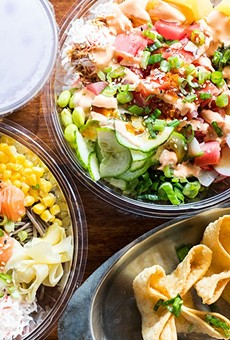Poke bowls are joined on the menu by crab Rangoons and soft-serve ice cream.