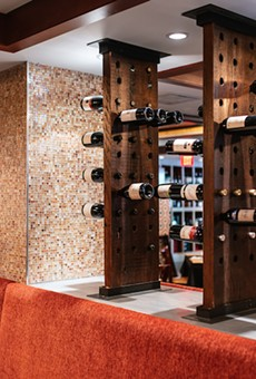 At Copia, wine isn't just on the list. It's a decorative feature.