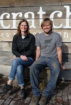 Marika Josephson and Aaron Kleidon of Scratch Brewing Company.