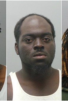 From Left: Jody Dale, Eddie Price and Jahma Swaningan were accused of assault.