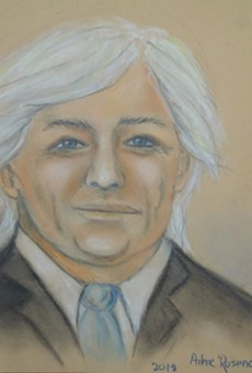 Michael Litz, as captured by a courtroom artist.