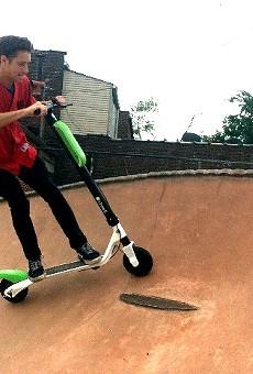 Naturally the skate park came into play.