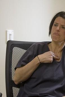 Angel Stewart, photographed in prison in 2015.