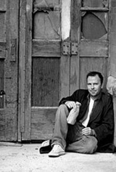 If you know anything about Doug Stanhope, you know      that's not mineral water he's drinking.