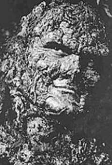 Dick Durock, the man inside the Swamp Thing make-up, meets the people at the ShowMeCon.
