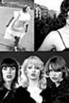 Electroclash titans (clockwise from top left): Chicks on Speed, Peaches, Larry Tee, W.I.T., Tracy + Plastics