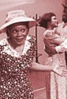 Peggy Neely-Harris (foreground) stars as the title character in Dust Tracks: Zora Neale Hurston's Stories (or Back to Walking on Flypaper).