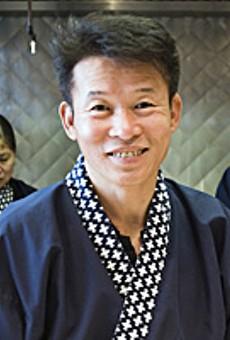 The new Mr. Sushi: Momoyama's head chef, Mr. K. Lee.