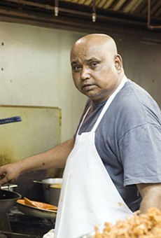 Nagabhushanam, Mayuri's head chef, once worked at the Viceroy Hotel in Hyderabad, India.
