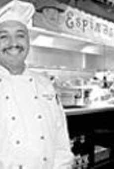 A reason to smile: Chef and owner Artemio Espino      has a good thing going at his innovative Mexican      eatery.