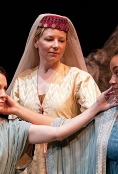 Orual (Sarah Cannon), Michelle Hand (Queen) and Psyche (Rory Lipede) beautify C.S. Lewis' Till We Have Faces.