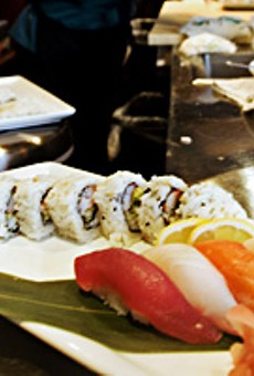 On a roll: Sushi chef Joon Kim creates a dish from Mizu's expansive menu.
