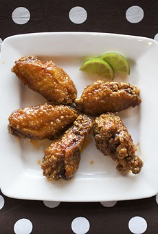 "O my: O! Wing Plus' ""Thai Chile-Lime"" wings pack a hot, citrusy punch. For more photos, visit our slideshow O! Wing Plus: Feeling Saucy?."