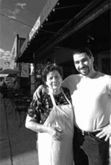Colossus of Ivanhoe: Marietta Potsos and her son George help keep family recipes alive.