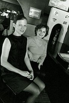 Rita Weaver (right) and future daughter-in-law Gina Kardos of the European Caffé