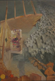 Brigham Dimick's Gaylen with Foam Blocks from Intersecting Narratives at Duane Reed.