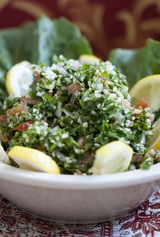 Tabouleh - a fusion of fresh parsley, tomatoes and burghul tossed lemon juice and olive oil.