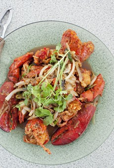 St. Louis Pho has seafood specialties such as tom hum xao hanh gung, stir-fried whole lobster with ginger. See more photos of St. Louis Pho here
