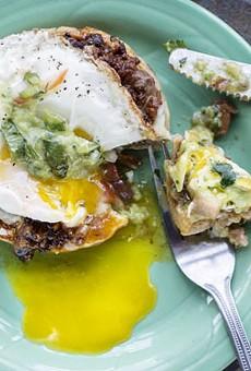 Spare No Rib's chorizo & egg sopes.               See photos: Spare No Rib Serves North African Street Food in South City