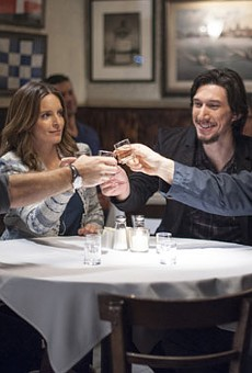 Jason Bateman as Judd Altman, Tina Fey as Wendy Altman, Adam Driver as Phillip Altman and Corey Stoll as Paul Altman in Warner Bros. Pictures' dramatic comedy This Is Where I Leave You.
