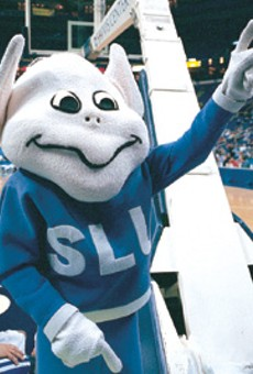 You get into the tourney, and your mascot gets the photo space -- no matter how creepy it is.