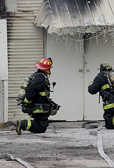 Firefighters such as Aaron Buchanan, in the white shirt, are never really off duty.