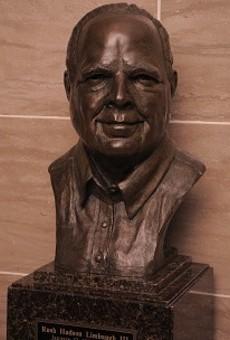 Rush Limbaugh bust.