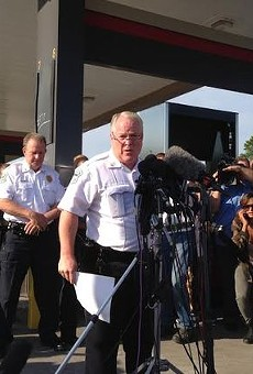 Ferguson police chief Tom Jackson reveals the name of the officer who shot Michael Brown.